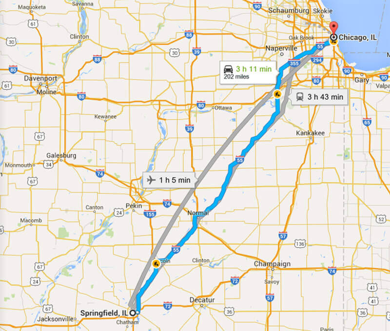Limo Service from Chicago to Springfield