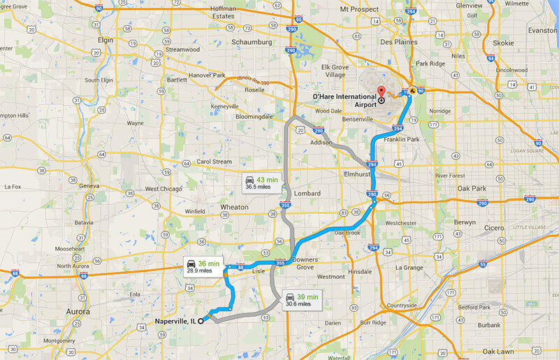 Limo service from Naperville to Ohare