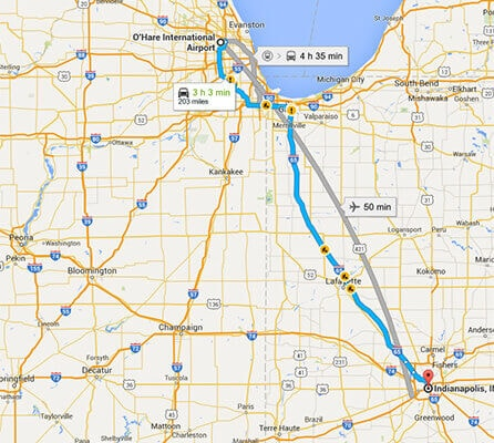 Limo Service to and from Indianapolis Indiana