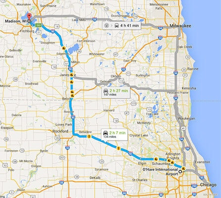 Limo Service To And From Madison Wisconsin